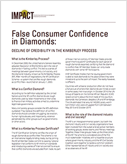 False Consumer Confidence in Diamonds