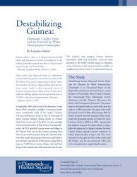 Destablizing Guinea