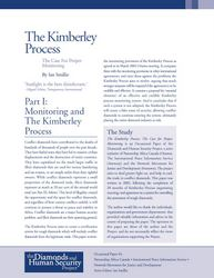 The Kimberley Process: The Case for Proper Monitoring