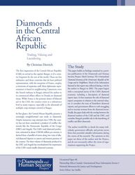 Diamonds in the Central African Republic