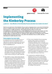 Implementing the Kimberley Process