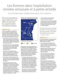 Les femmes dans l'EMAPE: RDC Reco